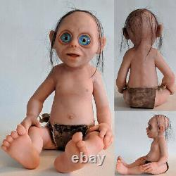10 Baby Gollum Figure Statue Life Size Lord of the Rings Artist Handmade Rare