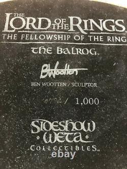 BALROG Sideshow WETA ORIGINAL STATUE LORD OF THE RINGS LOTR / HOBBIT