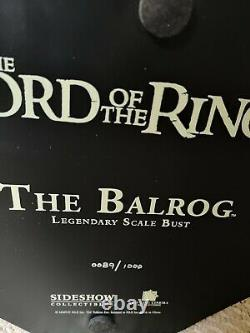 Balrog Legendary Scale Bust 12 Sideshow Lord of the Rings