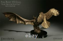Diorama Lord of the rings Fell Beast VS Eagle FAUX BRONZE Statue