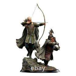 LORD OF THE RINGS Legolas and Gimli at Amon Hen Polystone Statue Weta Workshop