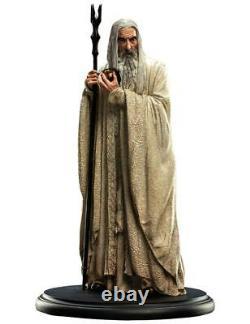 LORD of the RINGS SARUMAN the WHITE Mini Statue 19 cm WETA