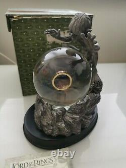 Lord Of The Rings MY PRECIOUS Gollum Smeagol Globe Statue Noble Collection