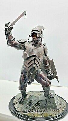 Lord Of The Rings URUK-HAI SWORDSMAN Polystone Statue by Sideshow Weta