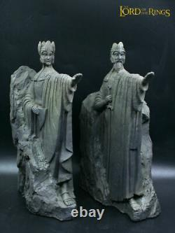 Lord of the Rings Hobbit Gates of Gondor Argonath Statue Big Bookends 25 CM High