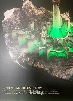 Lord of the Rings MINAS MORGUL Environment Statue Figure LED Green byWeta New
