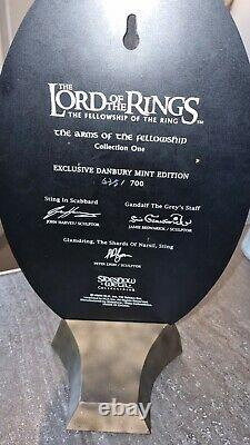 Lord of the rings weta arms of the fellowship statue danbury mint edition rare
