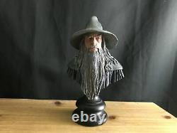 Lotr Sideshow Weta Lord Of The Rings Fotr Gandalf The Grey 9 Statue/bust No Box
