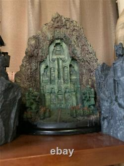 New The Lord of The Rings Hobbit Lonely Mountain Door Statue Figure Resin Stock
