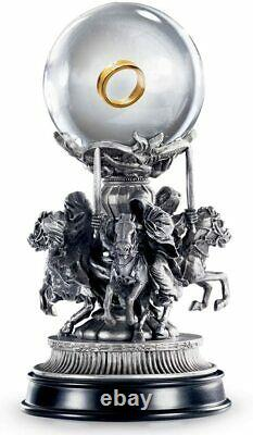 RARE LOTR Lord of the Rings Quest for The Ring NOBLE COLLECTION PEWTER STATUE