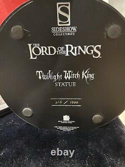 Sideshow LOTR Lord rings TWILIGHT WITCH KING Statue! #0215/ 1000! RARE! L@@K