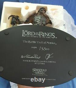 Sideshow WETA Lord of the Rings BATTLE TROLL OF MORDOR Statue NEW! MINT IN BOX