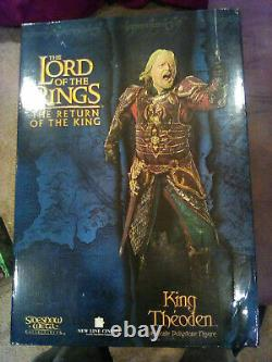 Sideshow Weta Lord Of The Rings King Theoden Polystone Statue NEW
