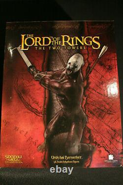 Sideshow Weta Lord Of The Rings Uruk-hai Berserker Lotr Statue #2407/3000 Rare