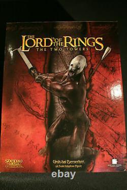 Sideshow Weta Lord Of The Rings Uruk-hai Berserker Statue 1800/3000
