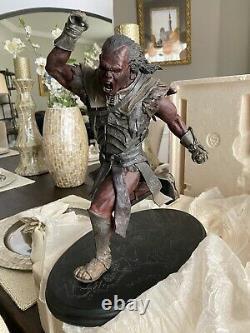 Sideshow Weta Lord Of The Rings Uruk-hai Scout Swordsman Statue Repaired