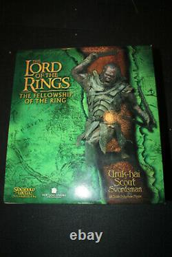 Sideshow Weta Lord Of The Rings Uruk-hai Scout Swordsman Statue Sold Out
