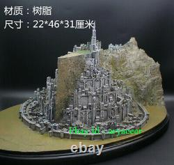 The Lord Of The Rings White City Minas Tirith Statue Collectible Model In Stock