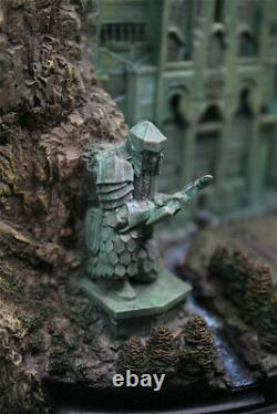 The Lord of The Rings Hobbit Lonely Mountain Door Statue Resin Model Figures