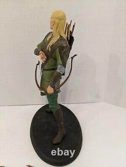 The Lord of the Rings Fellowship Legolas statue Sideshow Weta AS-IS M3