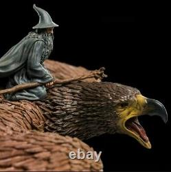 The Lord of the Rings Gandalf on Gwaihir High Quality Statue Hobbit Elves NEW