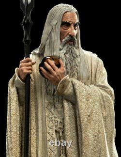 WETA Lord of the Rings Saruman the White Miniature Figure Statue NEW DOUBLEBOX