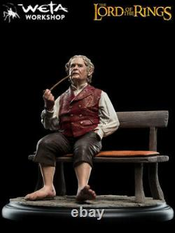 Weta Collectibles The Lord of The Rings Bilbo Baggins on Bench Statue Brand New
