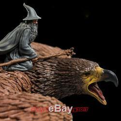 Weta Hobbit Lord of the rings Gandalf On Gwaihir Statue Mini Scenario In Stock