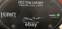 Weta Lord Rings Hobbit LOTR FILI The Dwarf Statue VERY RARE #0255/ 1000! L@@K