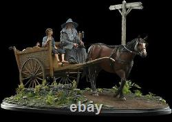 Weta Lord of the Rings MASTERS COLLECTION Gandalf & Frodo on Cart Figure Statue