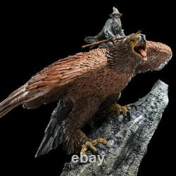 Wizard Gandalf Riding on Eagle Gwaihir Lord of the Rings Mini Statue Hobbit NEW